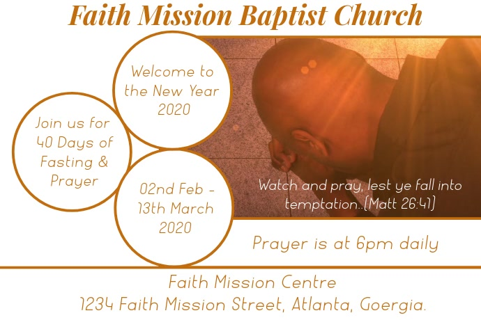 Fast & Prayer 1 Poster template