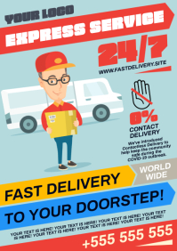 FAST DELIVERY POSTER A4 template