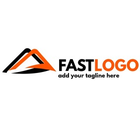 fast delivery services black and orange logo