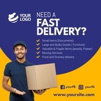 Fast delivery services instagram template Instagram-opslag