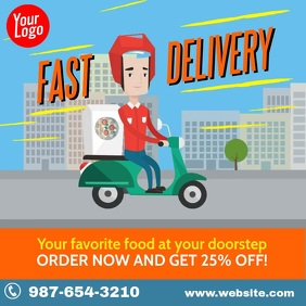 Fast Delivery street curbside Instagram video template
