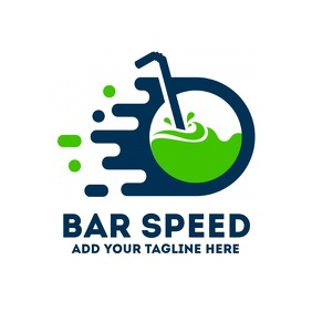 Fast drink icon bar or pub logo template