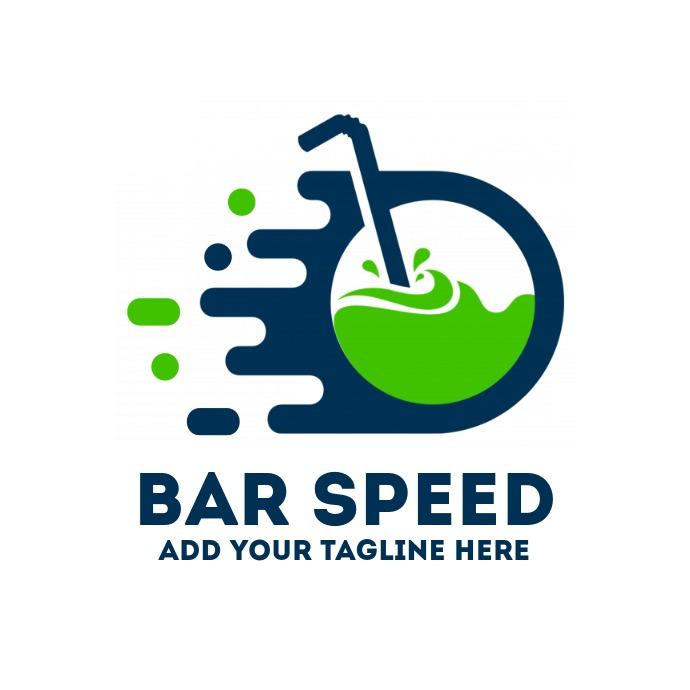 Fast drink icon bar or pub logo template