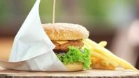 Fast Food Burger Fotografia de capa do canal do YouTube template