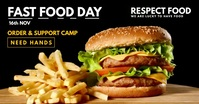 Fast Food Day 2020 Video Template Gambar Bersama Facebook