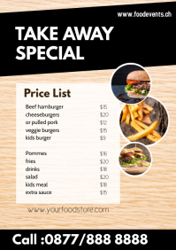 Fast Food Delivery Flyer Special Price List O