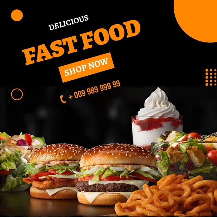 Fast food Instagram-opslag template