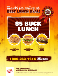Fast Food Menu Deal Flyer Template