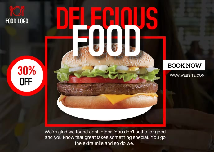 Fast Food Menu design POST CARD template