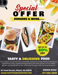 FAST FOOD MENU Flyer (US Letter) template