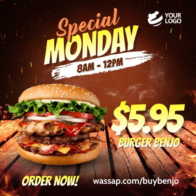 Fast Food Restaurant Promotion Instagram template