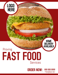 Fast Food Service Flyer Template
