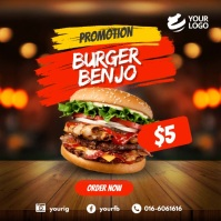 Fast Food Social Media Instagram Video template