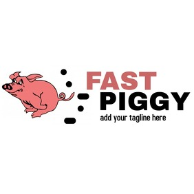 Fast piggy logo transport