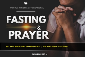 fasting and prayer Poster template