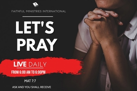 fasting and prayer flyer