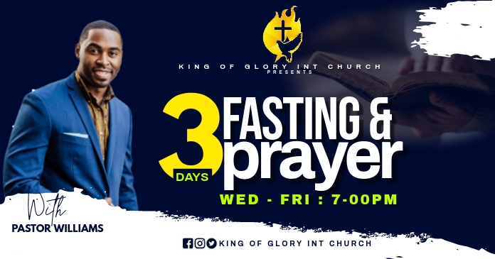 FASTING AND PRAYER FLYER Facebook 共享图片 template