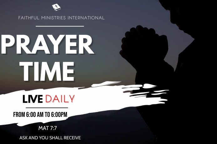fasting and prayer flyer Plakat template
