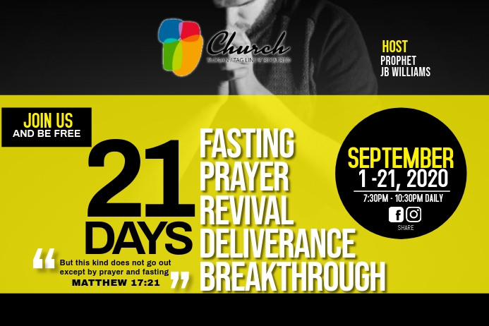 Fasting and prayer flyer Tatak template