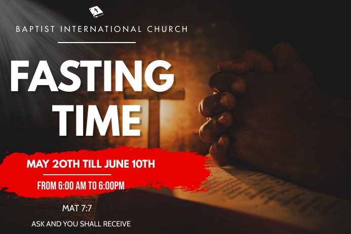 fasting and prayer flyer 海报 template