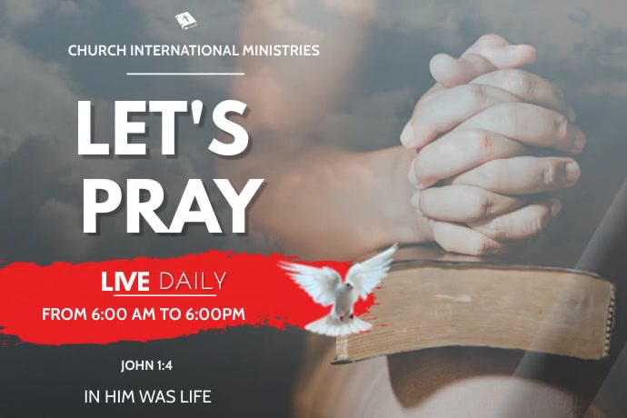 fasting and prayer flyer video 海报 template