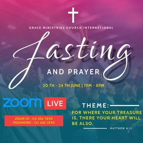 FASTING AND PRAYER TEMPLATE Instagram Post
