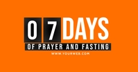 FASTING FLYER Facebook Shared Image template