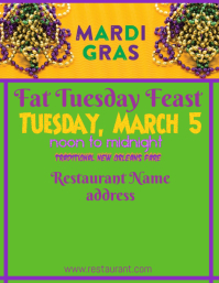 Fat Tuesday or Mardi Gras Ad