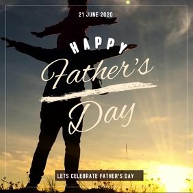 father's day,Dad's day Квадрат (1 : 1) template