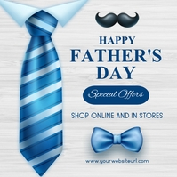 Father's day,event,party ,retail Instagram Plasing template