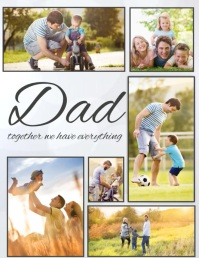 father's day,Family collage,dad and me Pamflet (Letter AS) template