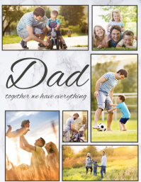 father's day,Family collage,dad and me Volante (Carta US) template