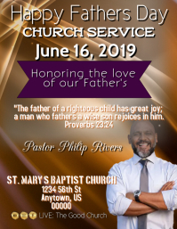 Father's Day 2019 Flyer (format US Letter) template
