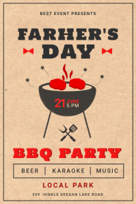 Father's Day BBQ party poster