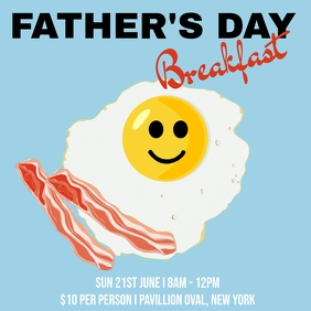 Father's Day Breakfast Message Instagram template