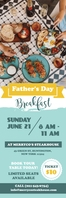 Father's Day Brunch Banner Spanduk 2' × 6' template