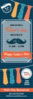 Father's Day Brunch Banner template