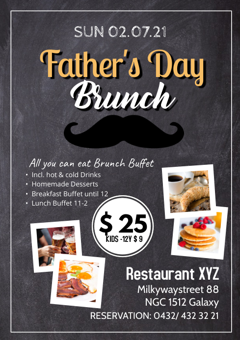Father's Day Brunch Buffet all you can eat