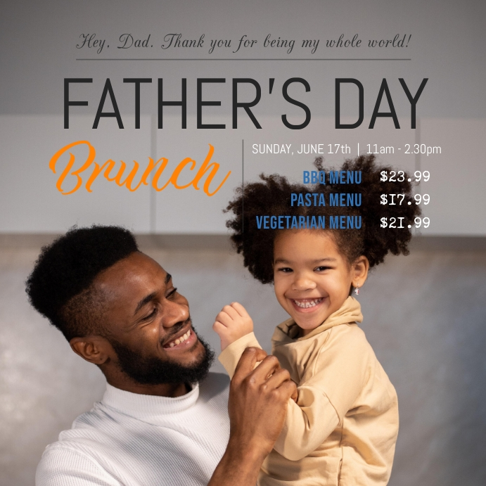 Father's Day Brunch Deal Instagram post Template
