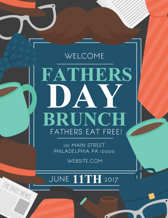 Father's Day Brunch 传单(美国信函) template