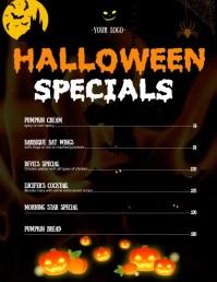 Halloween restaurant flyer template