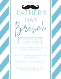 Father's day Brunch Flyer Template