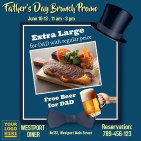 Father's day brunch template
