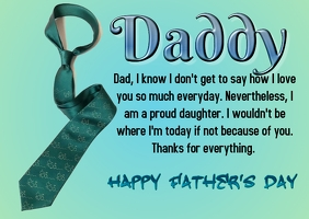 Father's day card Cartolina template