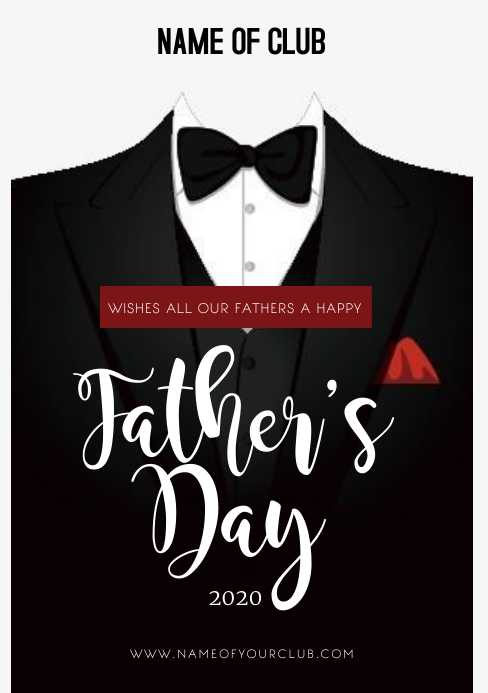 FATHER'S DAY CARD A5 template