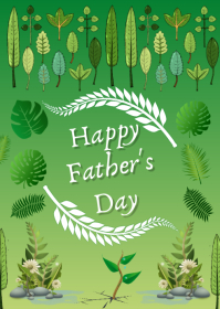 Father's Day Card A6 template