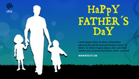 father's day celebration Blog header post template