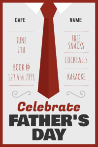 Father's Day Celebration Event Poster Template
