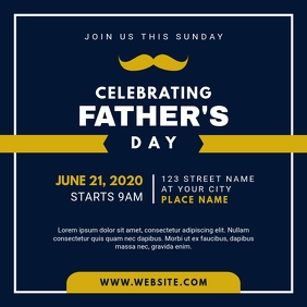 Father's Day Celebration Invitation Instagram Post template