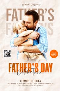 Father's Day Celebration Template Transparent 4 stopy × 6 stóp